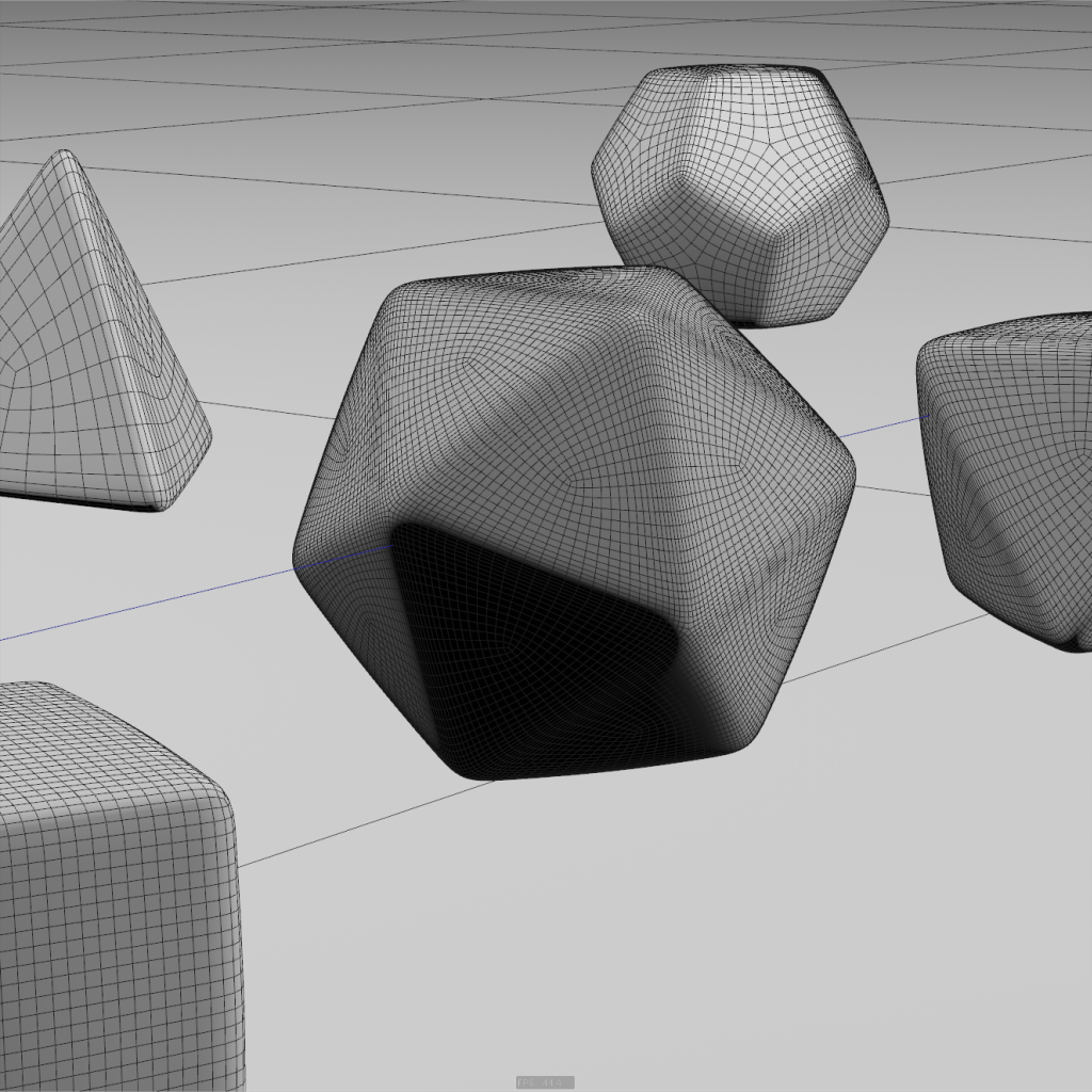 Wireframe dice